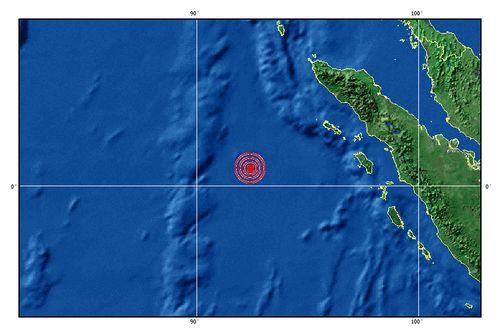 中国地震台网测定印尼苏门答腊发生8.2级余震