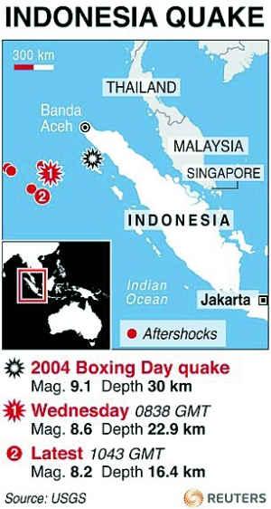 2004年地震引发大海啸