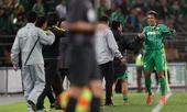 图文:[中超]国安2-1鲁能 徐亮庆祝进球
