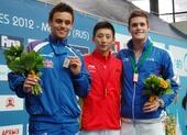图文:跳水系列赛莫斯科站 林跃站上领奖台