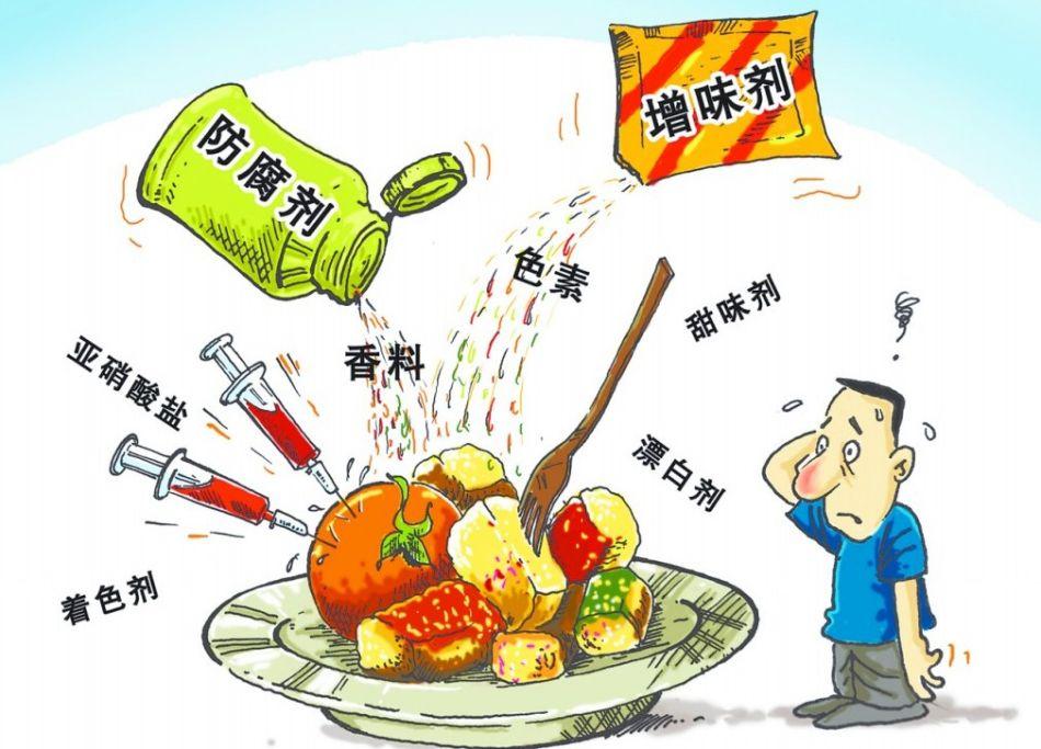 食品安全漫画资料图