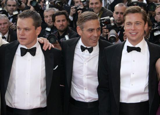 克鲁尼、皮特和达蒙都是多年好友,无论谁当伴郎都不奇怪。