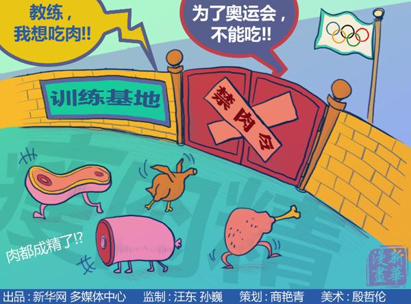 4月18日伦敦奥运倒数100天之际,一个奇特现象引起了我们的关注,中国运动员集体陷入了不敢吃肉的尴尬境地。