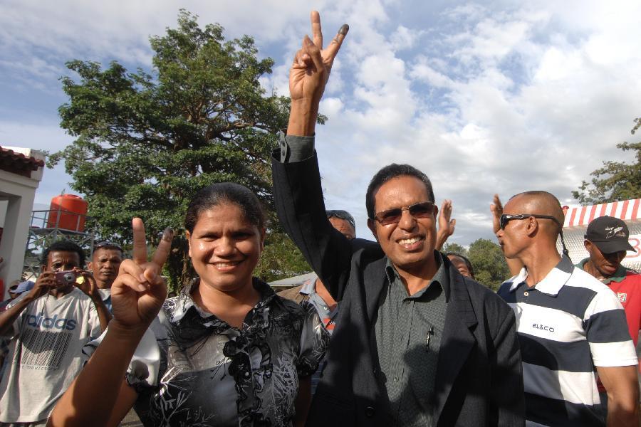 东帝汶总统选举候选人鲁阿克宣布获胜(组图)