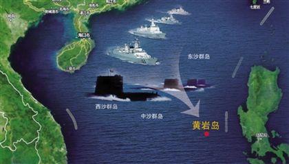 图片显示来看,至少一艘核潜艇已经出海奔赴南海开始巡逻。
