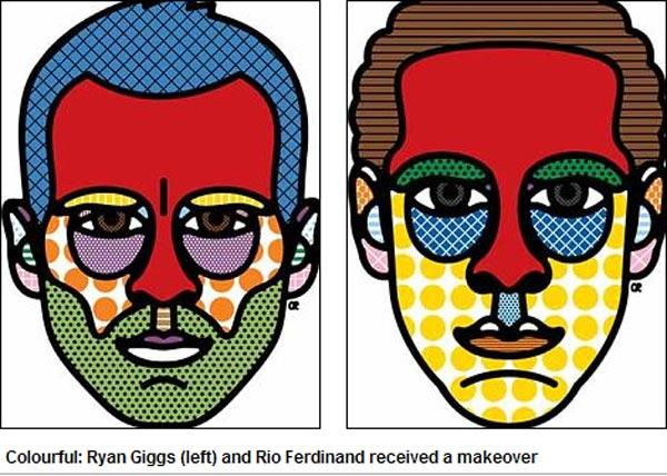 手绘彩色设计人体