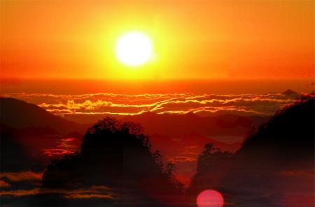 最美白云山日出别样红