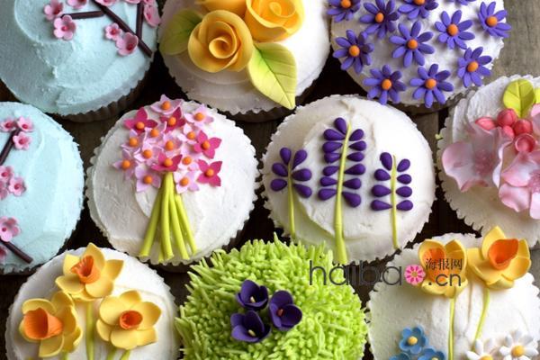 俏皮可爱的花朵纸杯蛋糕有没有萌到你?(组图)