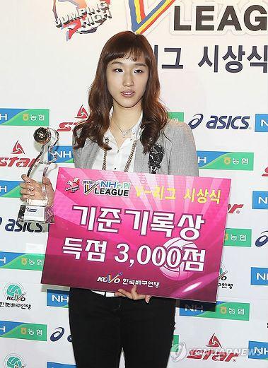 明星助阵韩国排球颁奖礼 新人王现场热舞 中国女排吧 百度