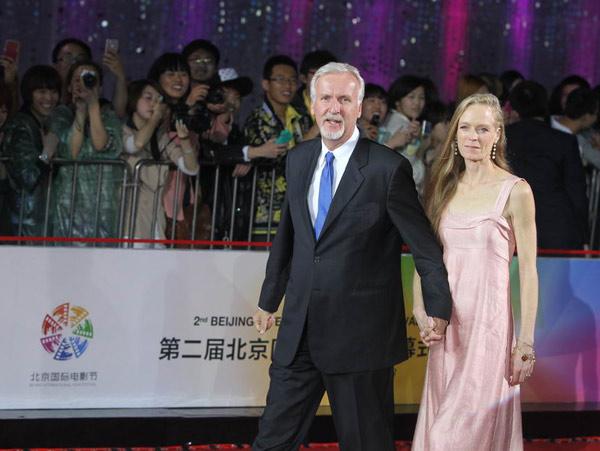 詹姆斯·卡梅隆携夫人亮相北京国际电影节图片