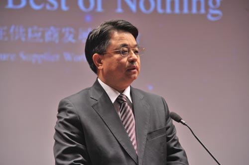 北京奔驰高级执行副总裁蔡速平先生