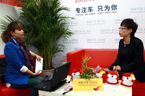 北京花园桥雷克萨斯总经理林帆做客搜狐访谈间