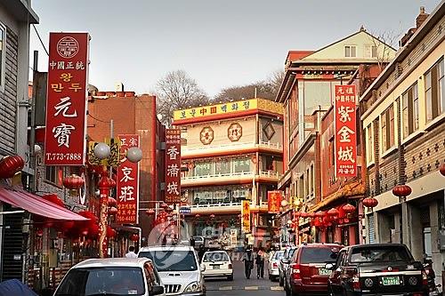 位于仁川市中区善�O洞的中国城。韩联社
