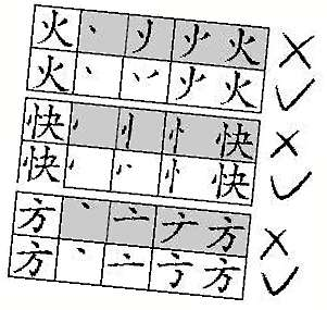 凸的笔画顺序图-对个别汉字书写笔顺作调整 图
