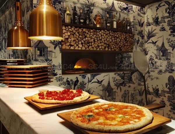 208的比萨依照那不勒斯比萨总会的规定制造,只采用来自Campana的水牛芝士及最新鲜的材料,并于由那不勒斯特别订造的比萨烤炉烤�h而成。