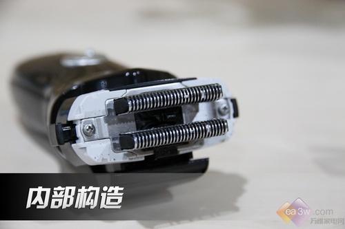 拆开刀网后,可看到内部设有两排刀片。