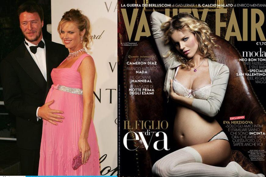 高清:女模怀孕8个月不忘捞金 挺大肚拍片成风潮(组图)