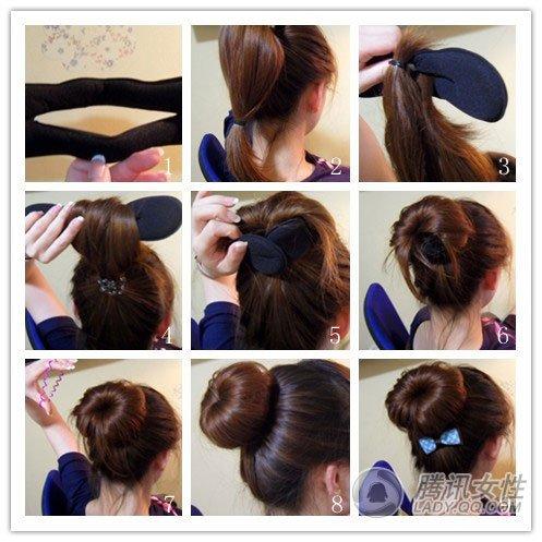 其实这些发型自己diy也能做到的,下面推介几款简单易行的盘发方法.图片