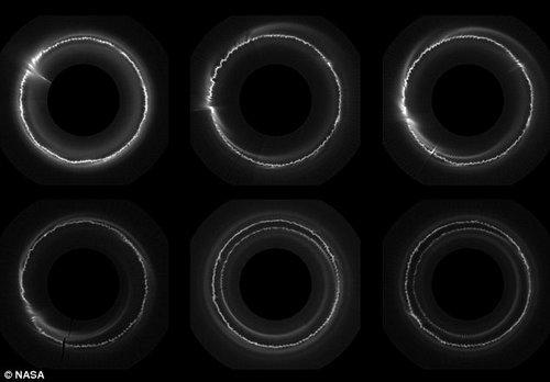 """数百不明物体击穿土星光环留下""""伤疤""""(组图)"""