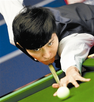 曹宇鹏在比赛中。新华社