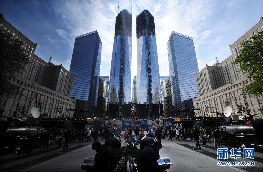 纽约/世贸中心一号楼取代帝国大厦成为纽约最高建筑(组图)