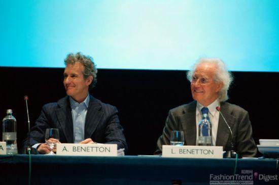 Alessandro Benetton(左)担任贝纳通集团新总监