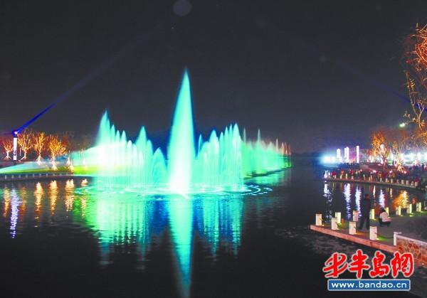 喷泉灯背景设计图