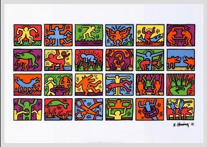 谷歌最新涂鸦 纪念美国涂鸦艺术家凯斯·哈林54周年诞辰