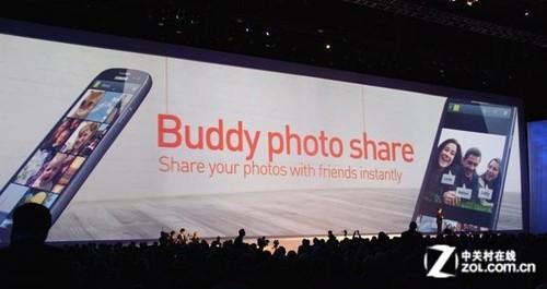 "三星GALAXY SIII""Buddy photo share"""
