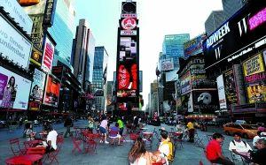 中国企业蜂拥纽约时报广场 豪掷千金打广告(图)