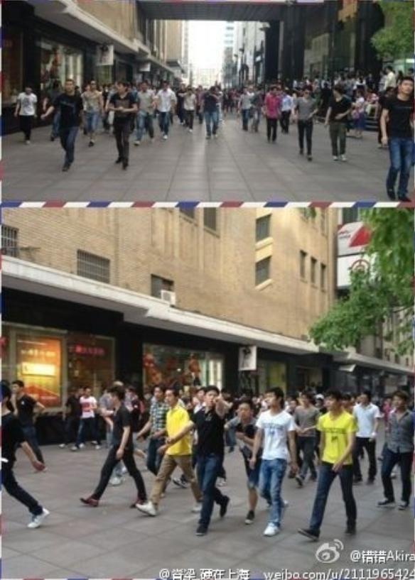 上海/上海南京东路多人斗殴 两名男子受伤(组图)