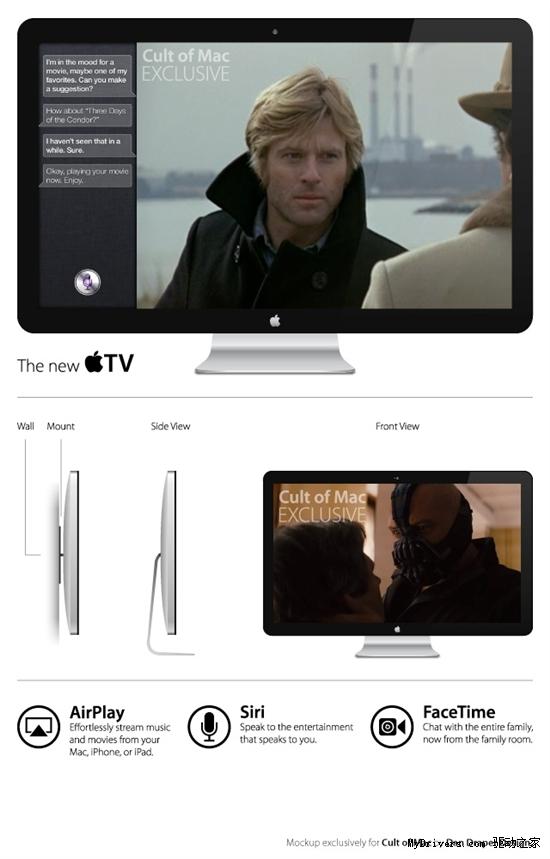 这为消息人士根据自己看到,绘制出了所谓苹果牌原型电视机。