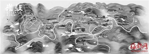 手绘地图达人还原鼓岭老别墅分布