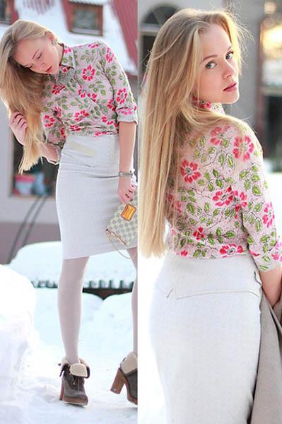 搭配 衬衫/印花衬衫时尚街拍 搭配夏季潮流造型