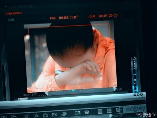 姚金男受伤退赛流下眼泪(图片来源:张婕搜狐微博)