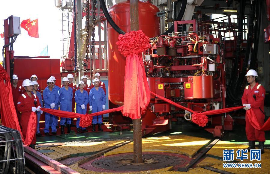 "5月9日拍摄的""海洋石油981""。"