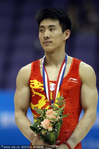 组图:体操全锦赛男子全能 郭伟阳失误不误夺冠