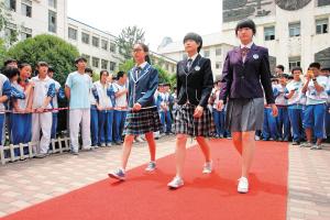 展示欢迎并由选出初中设计评学生由他们自己投票的最受通过的全校投入校服学生美女韩国图片