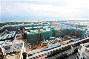 深圳/正在建设中的香港大学深圳医院。资料图片