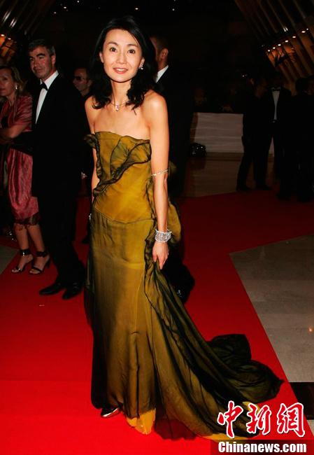 2007年,第60届中国电影节,张曼玉.来源视觉:cfp手机戛纳图片图片多张合成电影图片