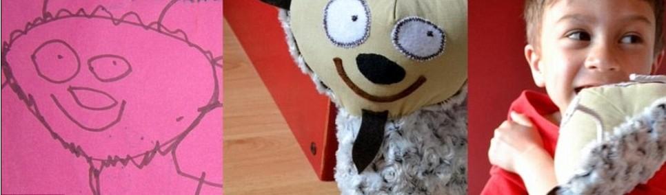 据英国《每日邮报》网站5月13日报道,为了给自己的儿子丹尼找到他最喜欢的玩具,家住加拿大温哥华的妈妈曹文迪(Wendy Tsao)在4年前尝试着根据小丹尼绘画中的动物和人物等形象,制作成毛绒或布料玩具。令她没有想到的是,不仅小丹尼非常喜欢这些他自己亲手设计的玩具,就连其他小朋友看见了也非常喜欢。   后来,曹妈妈成立了一个工作室,接受其他小朋友的妈妈寄来的绘画,然后根据绘画中的人物等形象,制作出儿童们的专属玩具。很多时候由于订单堆积如山,让曹妈妈都应付不过来。   曹妈妈根据小朋友绘画制作的玩具体现