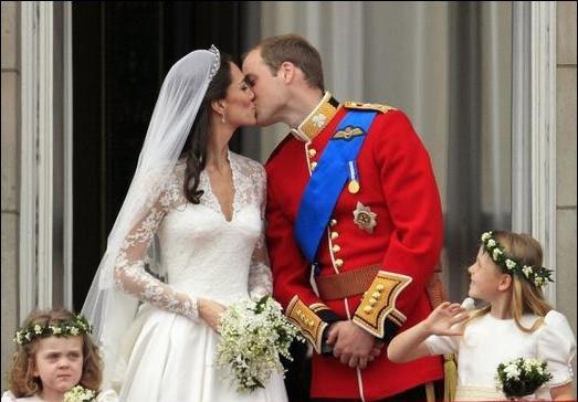 威廉王子与王妃。