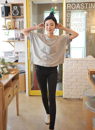 韩版超宽松蝙蝠袖设计