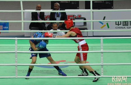 中国选手16:8战胜美国选手获伦敦奥运会入场券。田义丰 摄