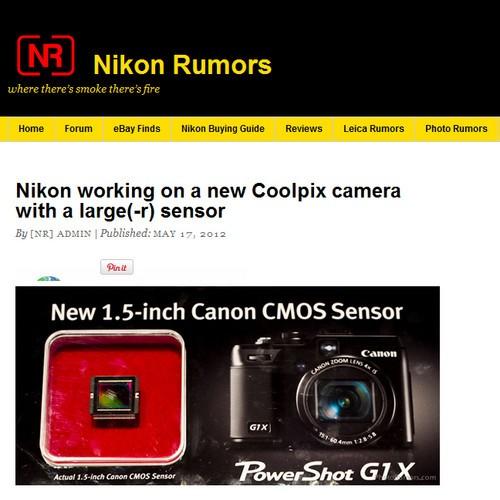 外网传闻尼康正研发大型感光元件便携DC