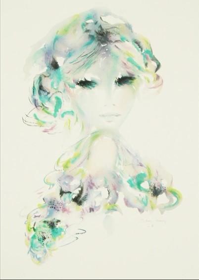 展出作品:单-玛丽 少女