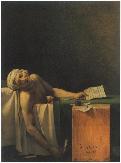 雅克 路易 大卫/雅克·路易·大卫的《马拉之死》