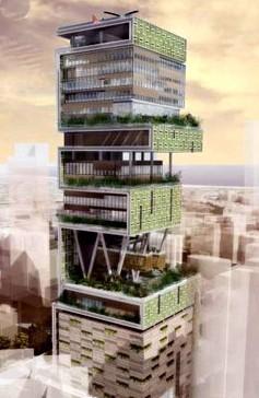 大楼最底6层全部为停车场,可同时停泊160辆汽车。停车场之上为大堂,拥有9部电梯。