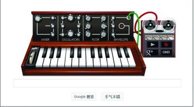 《怀念青春》简谱歌谱-谷歌新涂鸦 纪念合成器之父罗伯特穆格