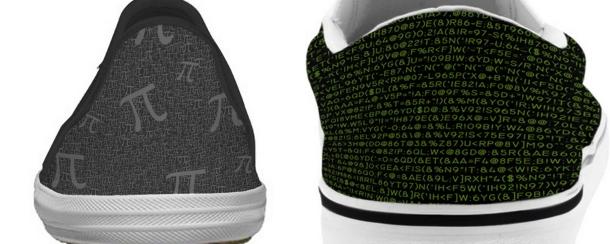 设计/[多图]为极客们所设计的鞋:画有代码 元素周期表等